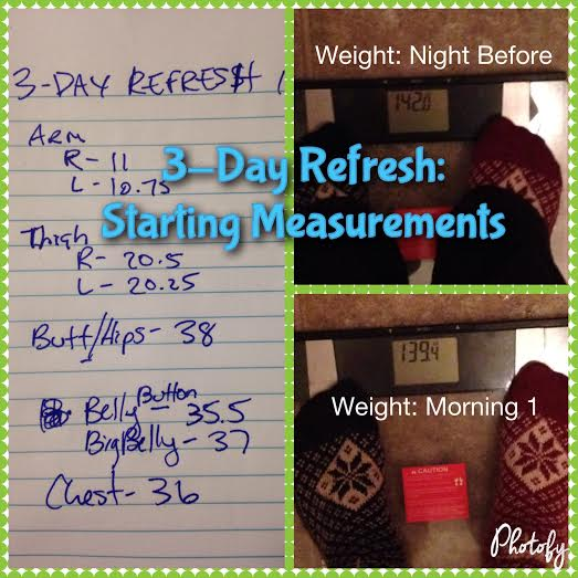 3-Day Refresh: Day 1 Measurements